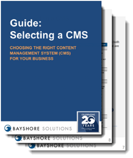 Mockup for Selecting a CMS