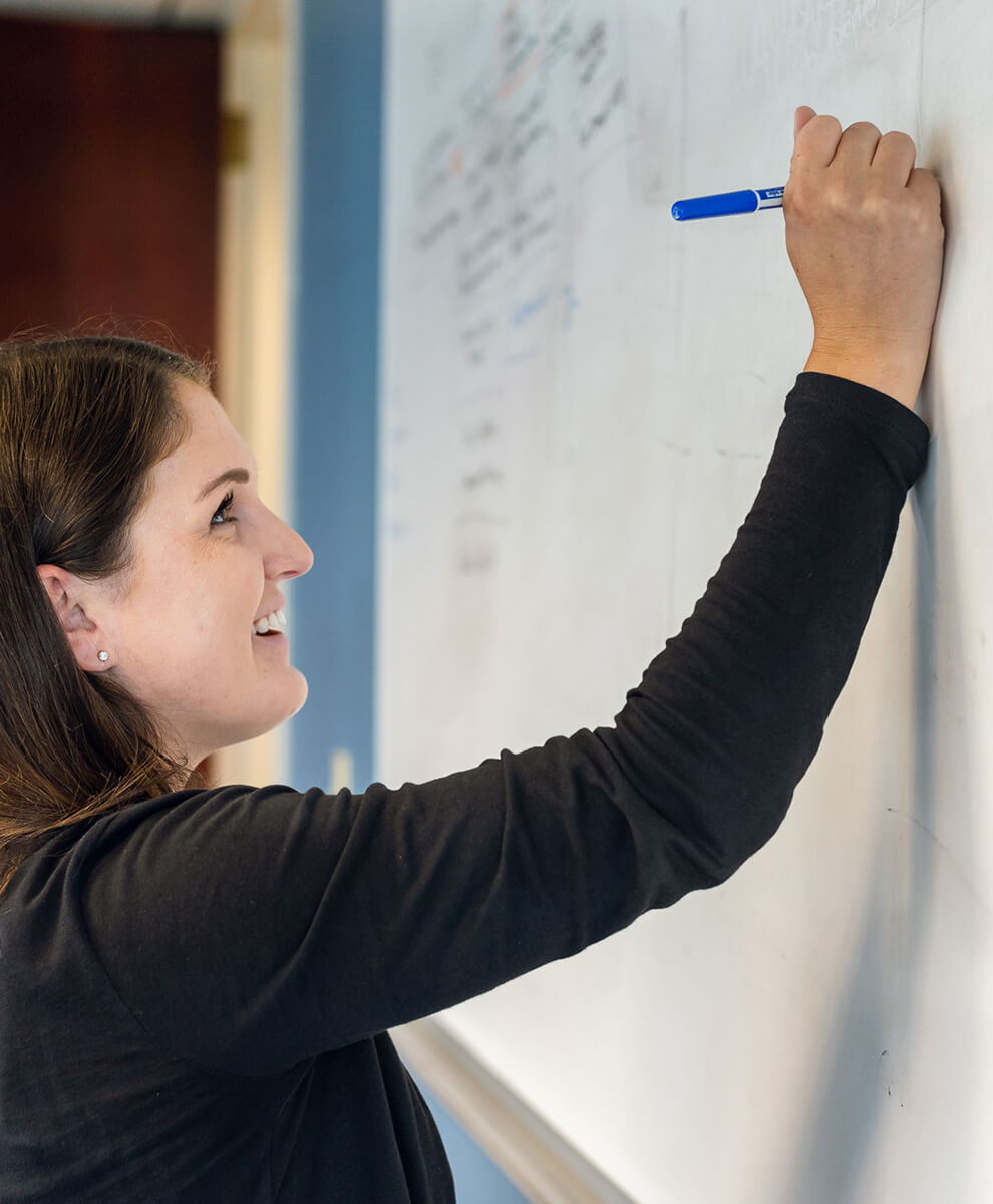 Marketer working on Whiteboarding