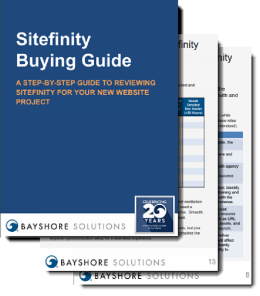 Mockup for Sitefinity Buying Guide