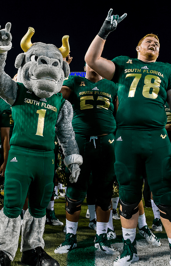 rocky and usf football team