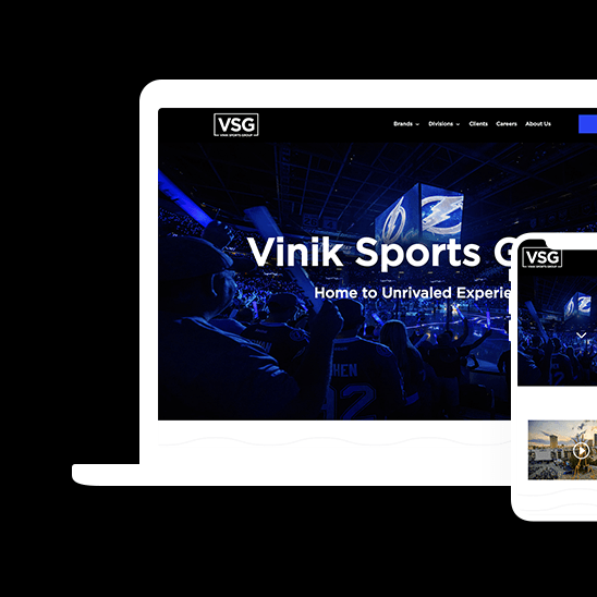 Mockup for Vinik Sports Group